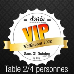 **Table 2/4 personnes VIP...